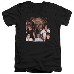 Night Ranger Slim Fit V-Neck Shirt Midnight Madness Black T-Shirt
