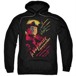 Nightmare On Elm Street Hoodie Freddy Claws Black Sweatshirt Hoody
