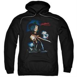 Nightmare On Elm Street Hoodie Poster Black Sweatshirt Hoody