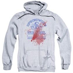 Nightmare On Elm Street Hoodie Springwood High Victim Heather Grey Sweatshirt Hoody