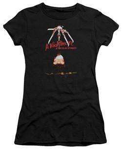 Nightmare On Elm Street Juniors Shirt Alternate Poster Black T-Shirt