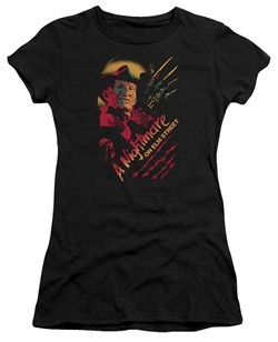 Nightmare On Elm Street Juniors Shirt Freddy Claws Black T-Shirt