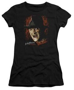 Nightmare On Elm Street Juniors Shirt Freddy Krueger Black T-Shirt