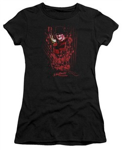 Nightmare On Elm Street Juniors Shirt One Two Freddys Coming For You Black T-Shirt