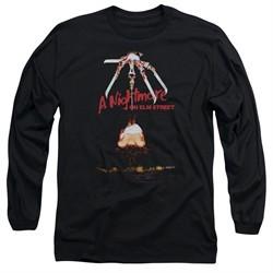Nightmare On Elm Street Long Sleeve Shirt Alternate Poster Black Tee T-Shirt