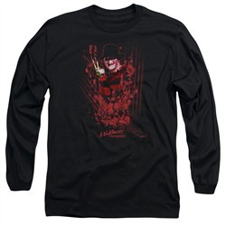 Nightmare On Elm Street Long Sleeve Shirt One Two Freddys Coming For You Black Tee T-Shirt