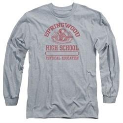Nightmare On Elm Street Long Sleeve Shirt Springwood High Heather Grey Tee T-Shirt