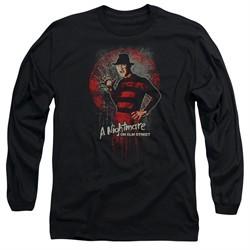 Nightmare On Elm Street Long Sleeve Shirt Springwood Slasher Black Tee T-Shirt
