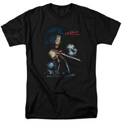 Nightmare On Elm Street Shirt Poster Black T-Shirt
