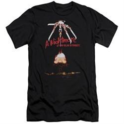 Nightmare On Elm Street Slim Fit Shirt Alternate Poster Black T-Shirt