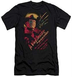 Nightmare On Elm Street Slim Fit Shirt Freddy Claws Black T-Shirt