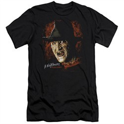 Nightmare On Elm Street Slim Fit Shirt Freddy Krueger Black T-Shirt