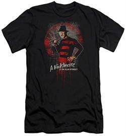 Nightmare On Elm Street Slim Fit Shirt Springwood Slasher Black T-Shirt