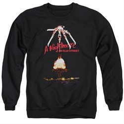 Nightmare On Elm Street Sweatshirt Alternate Poster Adult Black Sweat Shirt