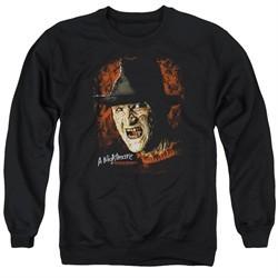 Nightmare On Elm Street Sweatshirt Freddy Krueger Adult Black Sweat Shirt