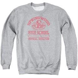 Nightmare On Elm Street Sweatshirt Springwood High Adult Heather Grey Sweat Shirt