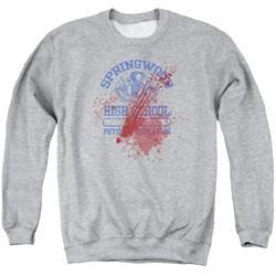 Nightmare On Elm Street Sweatshirt Springwood High Victim Adult Heather Grey Sweat Shirt