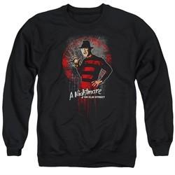 Nightmare On Elm Street Sweatshirt Springwood Slasher Adult Black Sweat Shirt