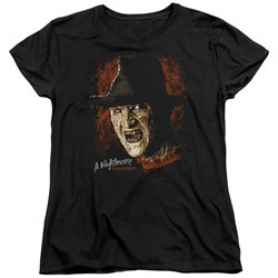 Nightmare On Elm Street Womens Shirt Freddy Krueger Black T-Shirt
