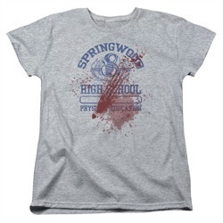 Nightmare On Elm Street Womens Shirt Springwood High Victim Heather Grey T-Shirt