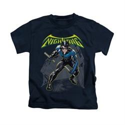 Nightwing DC Comics Shirt Nightwing Kids Navy Blue Youth Tee T-Shirt