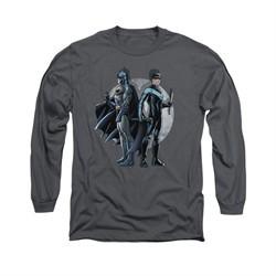 Nightwing DC Comics Shirt Spotlight Long Sleeve Charcoal Tee T-Shirt