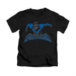 Nightwing DC Comics Shirt Wing Of The Night Kids Black Youth Tee T-Shirt