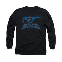 Nightwing DC Comics Shirt Wing Of The Night Long Sleeve Black Tee T-Shirt