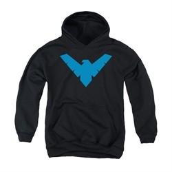 Nightwing DC Comics Youth Hoodie Symbol Black Kids Hoody