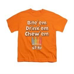 Nik L Nips Shirt Kids Bite Em Orange T-Shirt