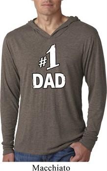 Number 1 Dad Lightweight Hoodie Shirt