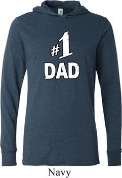 Number 1 Dad Lightweight Hoodie Tee