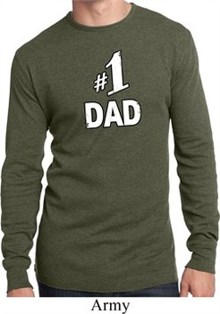 Number 1 Dad Mens Long Sleeve Thermal Shirt