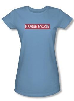 Nurse Jackie Juniors Shirt Logo Carolina Blue T-shirt Tee