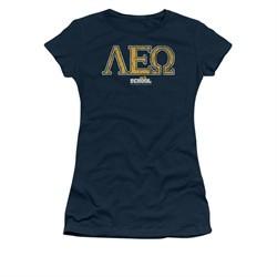 Old School Shirt Juniors Leo Navy Tee T-Shirt
