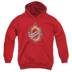 Oldsmobile Kids Hoodie Detroit Emblem Red Youth Hoody