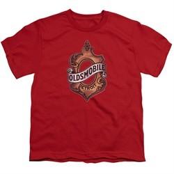 Oldsmobile Kids Shirt Detroit Emblem Red T-Shirt