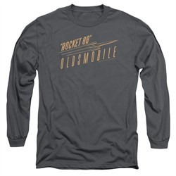 Oldsmobile Long Sleeve Shirt Rocket 88 Charcoal Tee T-Shirt