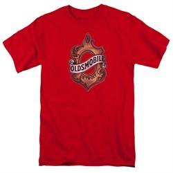 Oldsmobile Shirt Detroit Emblem Red T-Shirt
