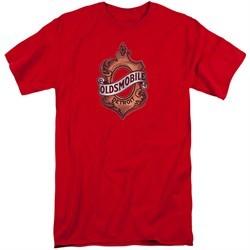 Oldsmobile Shirt Detroit Emblem Red Tall T-Shirt