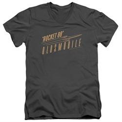 Oldsmobile Slim Fit V-Neck Shirt Rocket 88 Charcoal T-Shirt