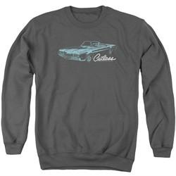 Oldsmobile Sweatshirt 68 Cutlass  Adult Charcoal Sweat Shirt