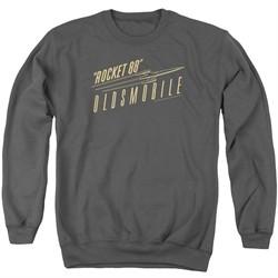 Oldsmobile Sweatshirt Rocket 88  Adult Charcoal Sweat Shirt