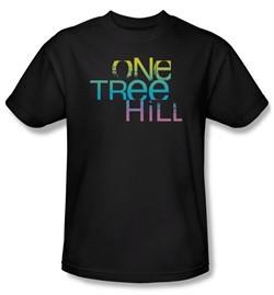 One Tree Hill Shirt Color Blend Logo Adult Black Tee T-Shirt