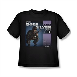 Parks And Recreation Shirt Kids Duke Silvers Black T-Shirt