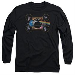 Pink Floyd Long Sleeve Shirt Dark Side Heads Black Tee T-Shirt
