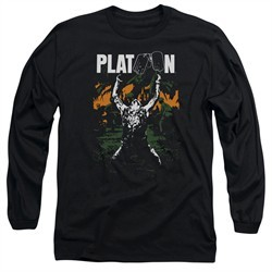 Platoon Long Sleeve Shirt Graphic Black Tee T-Shirt
