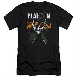Platoon Slim Fit Shirt Graphic Black T-Shirt