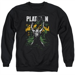 Platoon Sweatshirt Graphic Adult Black Sweat Shirt