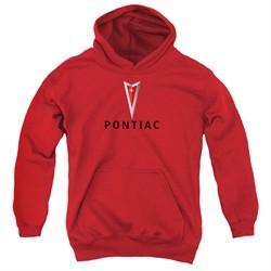 Pontiac Kids Hoodie Modern Logo Red Youth Hoody